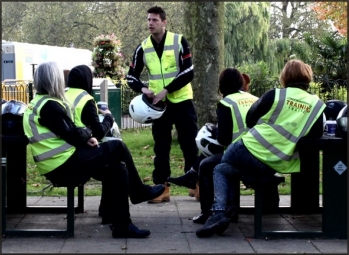 Trainee doing a CBT course with London Motorcycle Training