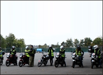 Trainees at CBT training centre with London Motorcycle Training